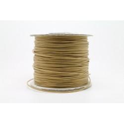 100 metres lacet coton cire 2mm beige clair