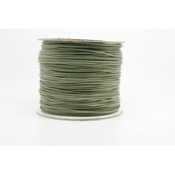 100 metres lacet coton cire 2mm vert olive