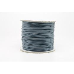 100 metres lacet coton cire 2mm gris fonce