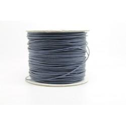 100 metres lacet coton cire 2mm bleu nuit