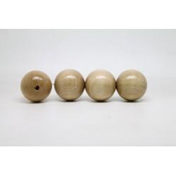 50 perles rondes bois naturel 20 mm