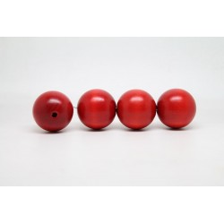 100 perles rondes bois rouge 14 mm