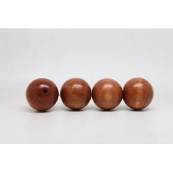 50 perles rondes bois noisette 24 mm