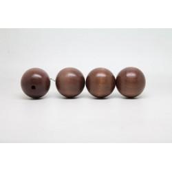 50 perles rondes bois marron fonce 24 mm