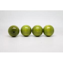 50 perles rondes bois vert clair 24 mm