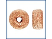 10 Rondelles 4.0mm Stardust Trou 1.2mm 1/20 14K Rose Gold Filled