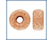 5 Rondelles 5.0mm Stardust Trou 1.4mm 1/20 14K Rose Gold Filled