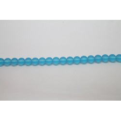 300 perles verre aigue marine mat 8mm