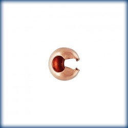 10 Caches Plombs 4.0mm 1/20 14K Rose Gold Filled