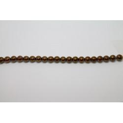 75 perles verre bronze 14mm