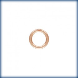 25 Anneaux fermes 4.0mm Fil 0.64mm 1/20 14K Rose Gold Filled