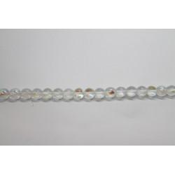 75 perles verre cristal AB 14mm