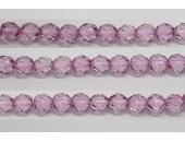 300 perles verre fuschia 8mm