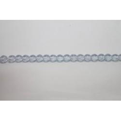 150 perles verre ciel lustre 10mm