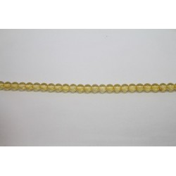1200 perles verre jaune 4mm