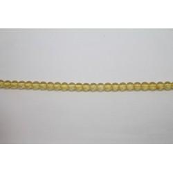600 perles verre jaune 6mm