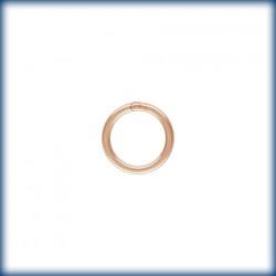 10 Anneaux fermes 6.0mm Fil 0.76mm 1/20 14K Rose Gold Filled