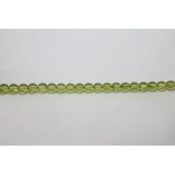 600 perles verre olivine 5mm