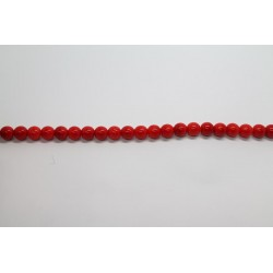 600 perles verre corail 6mm