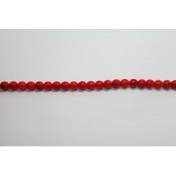 75 perles verre corail 14mm