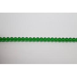 75 perles verre emeraude 14mm