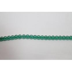 600 perles verre emeraude lustre 6mm