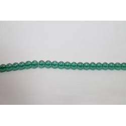 75 perles verre emeraude lustre 14mm