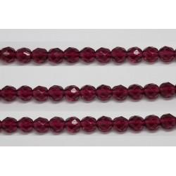 600 perles verre fuschia 5mm