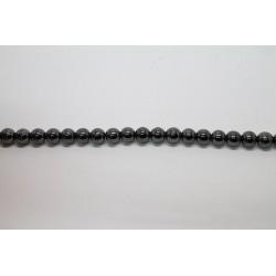 75 perles verre hematite 14mm
