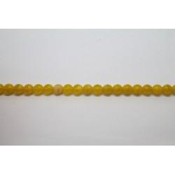 600 perles verre jaune soie 5mm