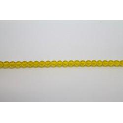 75 perles verre jaune 14mm