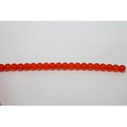 75 perles verre jacinthe mat 14mm