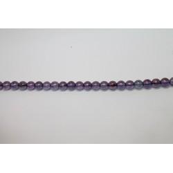 600 perles verre poudre mauve 6mm
