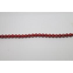 600 perles verre rubis opaque lustre 6mm