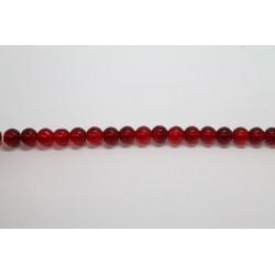 600 perles verre rubis 6mm