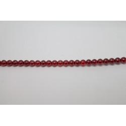 75 perles verre rubis lustre 14mm