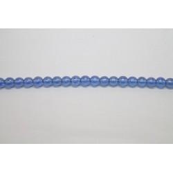 75 perles verre saphir lustre 14mm