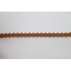 600 perles verre topaze lustre 6mm