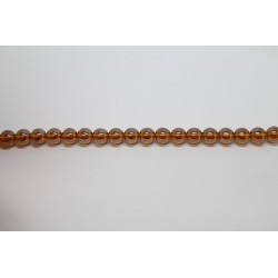 75 perles verre topaze lustre 14mm