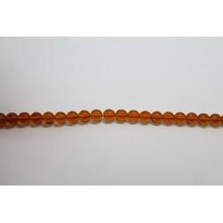 75 perles verre topaze 14mm