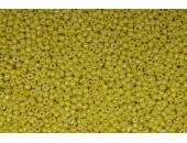 250 grs rocaille jaune opaque lustre 9/0