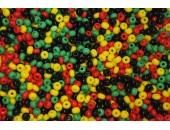 250 grs rocaille multicolore 9/0