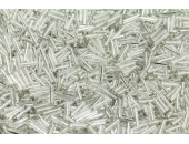 250 grs rocaille tube argente 10mm