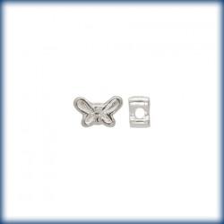 5 Perles Papillons 9mm Argent Véritable