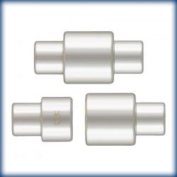 1 Fermoir Aimant 7.0x14.0mm Trou 3mm Argent Veritable