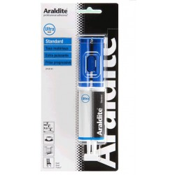 Colle araldite seringue bleue Standard 24 Ml