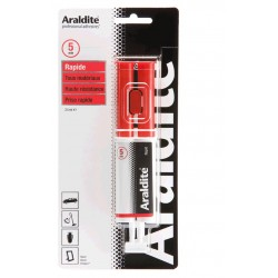 Colle araldite seringue rouge Rapide 24 Ml