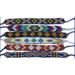 10 Bracelets Brésiliens rocaille 15mm