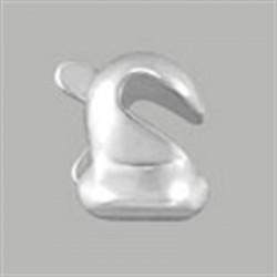 10 rotules de broche BALLOU FINDINGS ARGENT VERITABLE
