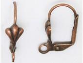 25 paires dormeuses a coquille cuivre antique